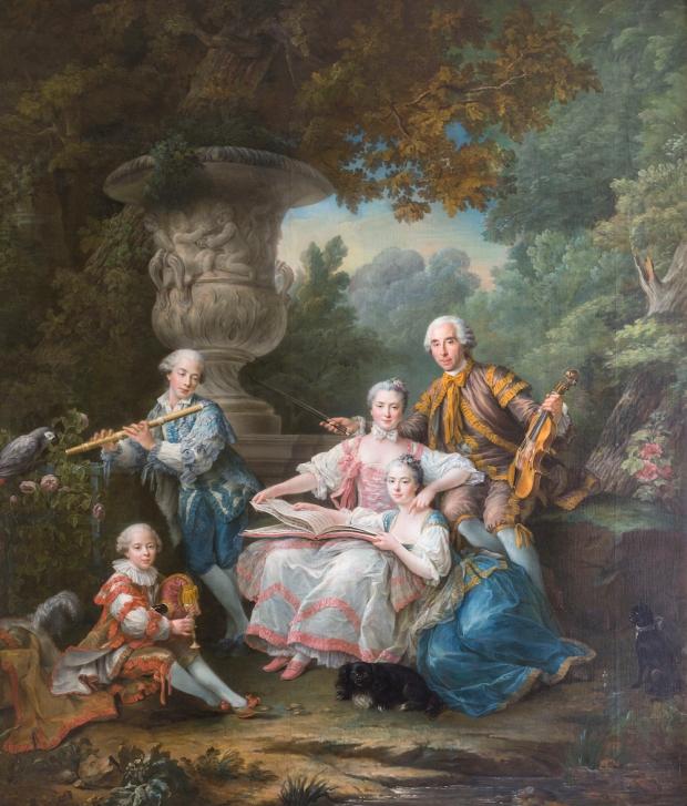 """Le Marquis de Sourches et sa famille dit """" le Concert champÍtre"""""""